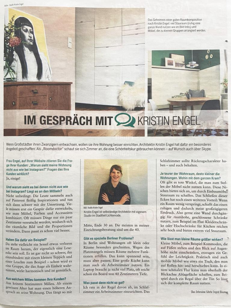 Kristin Engel, Architektin im Interview mit der Berliner Zeitung